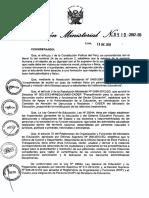 LINEAMIENTOS PARA LA PREVENCIÓN Y PROTECCIÓN DE LOS ESTUDIANTES - RM N° 0519-2012-ED