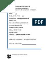 Trabajo Practico Contabilidad Fiscal 2017-1 Maria Tocuyo