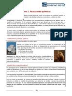 FQ1BAC Tema 2 Reacciones Quimicas