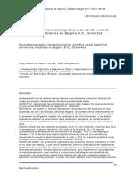 Caracterización Sociodemográfica y de Salud Vocal de Docentes Universitarios en Bogotá D.C., Colombia