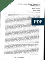 Alvarado y Cortés_La Escritura en La Universidad. Repetir o Transformar