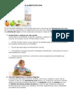 10 Reglas de Oro Para Una Alimentación Sana