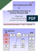 Public Key Infrastructure (PKI) & Authentification forte dans un domaine Windows 2000