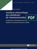 Izabela Pozierak-Trybisz-Analyse Sémantique Des Prédicats de Communication_ Production Et Interprétation Des Signes. Emplois de Communication Non Verbale