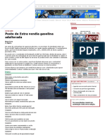 Grana - Posto Do Extra Vendia Gasolina Adulterada - 24-04-2009