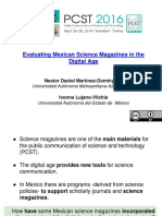 Evaluating Mexican Science Magazines in the Digital Age