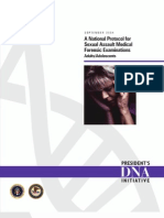 A National Protocol for Sexual Assault Medical Forensic Examinations Adults/Adolescents