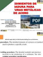 Procedimientos de Soldadura Para Estructuras Metálicas de Acero