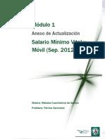 Salario Mínimo Vital y Móvil Actualizado Septiembre 2012