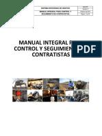 Manual Integral Para Control y Seguimiento de Contratistas Drummond Ltd.
