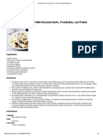 Creamy Fontina Rigatoni With Roasted Garlic, Portabellas, And Pulled