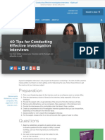 40 Tips for Conducting Effective Investigation Interviews I-Sight