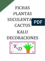 Fichas Plantas Suculentas y Cactus