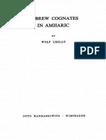 Leslau - Hebrew Cognates in Amharic (1969)