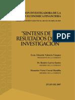 Informe Comision Crisis Bancaria