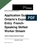 Ontario French Speaking Program