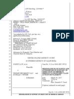 Trump University - Sherri Simpson - Memorandum of Law Supporting Objection