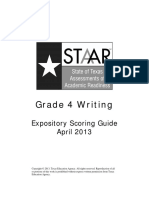 Staar g4 Write Expository ScorGde Apr13