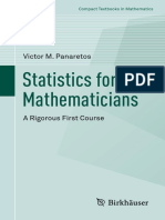 Statistics for Mathematician