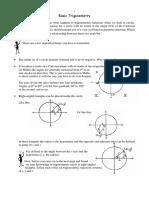 Basic Trigonometry Notes