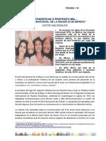 ESTADÍSTICAS A PROPÓSITO DEL DÍA INTERNACIONAL DE LA MUJER (8 DE MARZO)