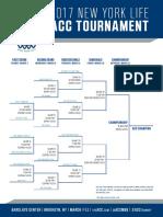 Men's ACC Basketball Tournament Bracket (Blank)