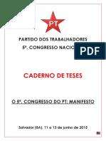 Caderno de Teses Do PT de 2015