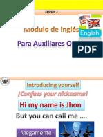 Lesson 1 Módulo de Inglés Auxiliares Orales U de C(Blog)
