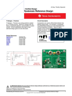 Comparator with Hysteresis Reference Design (Texas Instruments)