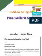 Lesson 2 Módulo de Inglés Auxiliares Orales U de C(Blog)