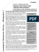 Lundquist Reseach Wikipedia Austria 2010 Executive Summary