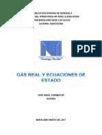 Gases Reales y Ecuaciones de Estado