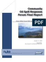 Community Oil Spill Response Forum