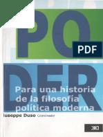 El Poder. Para Una Historia de La Filosofía Política Moderna_Giuseppe Duso (Coordinador)