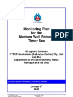 Monitoring Plan for the Montara Oil Well Release in Timor Sea