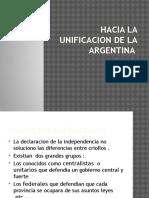 Hacia La Unificacion de La Argentina