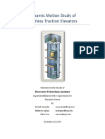 dynamic motion study of gearless traction elevators