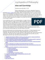 A Priori Justification and Knowledge SEP 2014-5