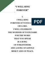 I WILL SING