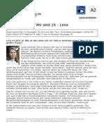 Leseverstehen Deutsch A2 Lena Wir Sind 16 RF Deutschlernerblog.de