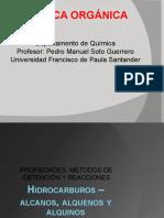 Obtención y reacciones de los alquenos - Dictado por el Prof. Pedro Soto