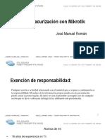 Pruebas y Securización Con Mikrotik 15 Octubre 2015