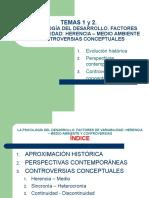 Diapositivas Temas 1 y 2 Psicologia Del Desarrollo