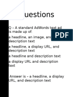Session 10 - Google Adwords Fundamentals Sample Questions