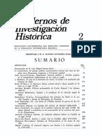 Cuadernos de Investigación Histórica 2