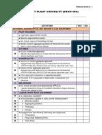 2013-3 Drum Mix Plant Checklist