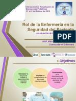 10.- Rol de La Enferemera de Calidad y Seguridad Pediatrica