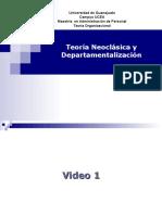 Teoría Neoclásico y Departamentalización