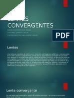 Lentes convergentes. Exposición