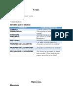 Motivos de Consulta OIDO Acusia Hipoacusia Hiperacusia